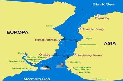 vị trí eo biển bosphorus