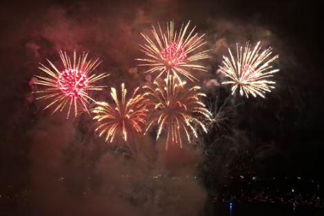 圖:2016溫哥華光之慶典國際煙花比賽(視頻截圖)