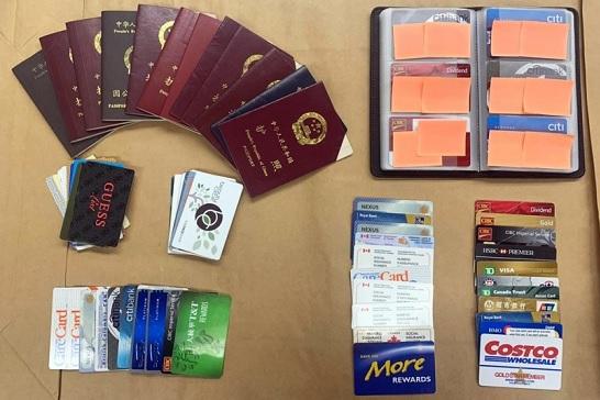 本拿比騎警查獲12本失竊中國護照