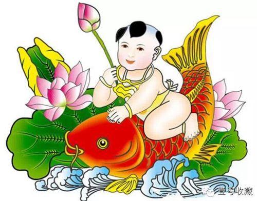 A child holding a carp. (Image: NTDTV)