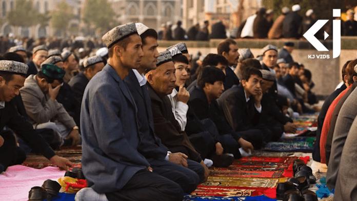 Uyghur minority praying