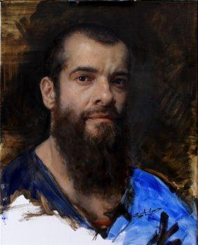 'Self-Portrait' by Cesar Santos. Oil on linen, 20 inches by 16 inches. (Image: Courtesy of Cesar Santos)