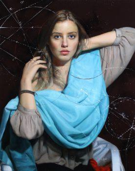 'Cosmic Connection.' Oil on linen, 34 inches by 27 inches. (Image: Courtesy of Cesar Santos)