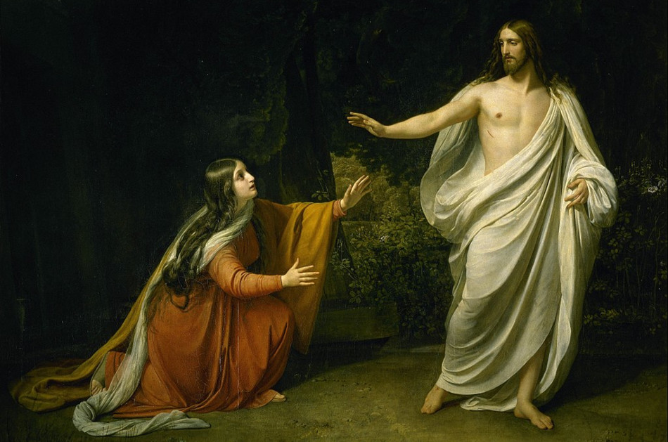 Painting of Jesus appearing to Mary after his resurrection.