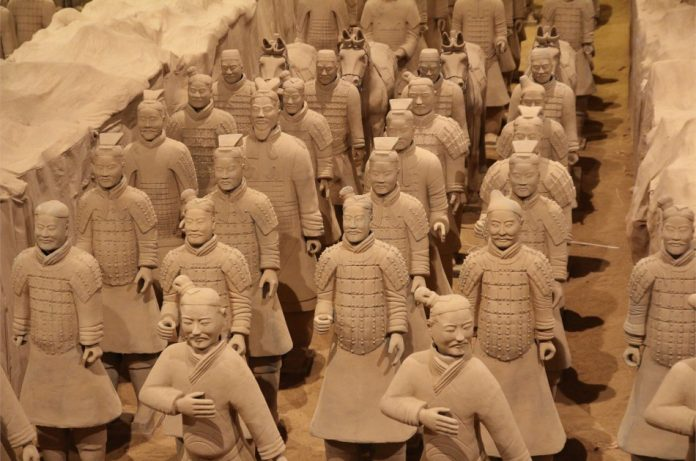 The army of terracotta warriors.