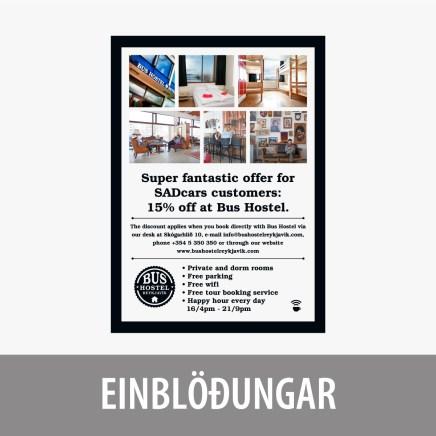 Einblöðungur fyrir Bus Hostel