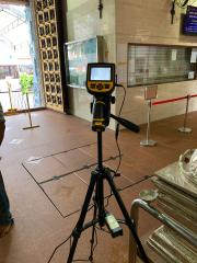 Thermal Camera at Temple Entrance