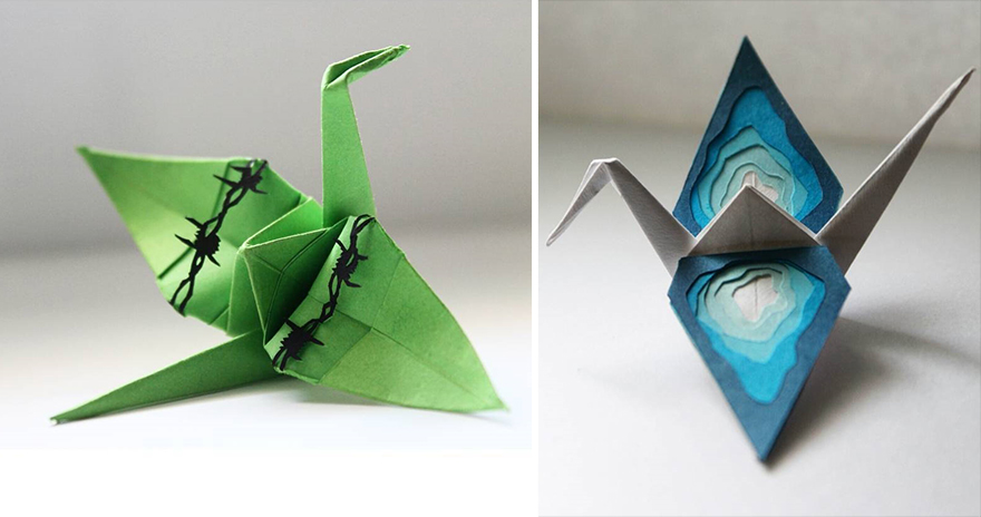 Beautiful Paper Folding Cranes By Origami Enthusiast Cristian Marianciuc