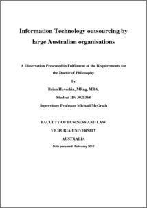 Information technology outsourcing by large Australian ...