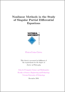 Nonlinear Methods in the Study of Singular Partial ...