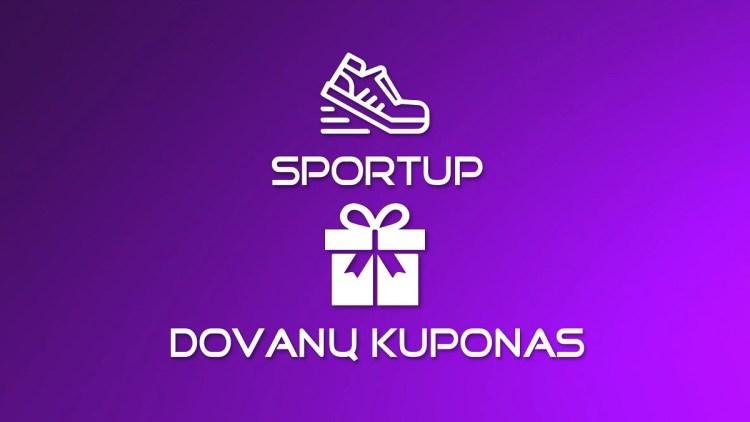 """Vaikų ir jaunimo sporto stovyklos """"SportUp"""" 2020 dovanų kuponas"""