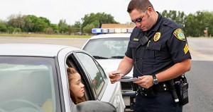 Cop pulling over a motorist