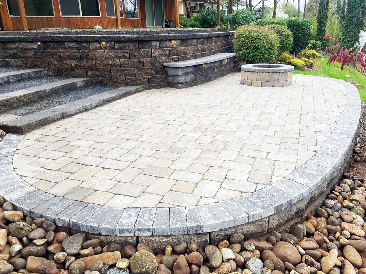 Paver Stone Patio Installation - Vulcan Design & Construction on Patio Paver Design Ideas  id=20476