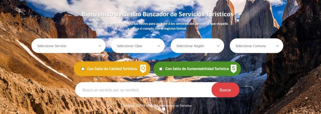 Buscador del Registro Nacional de Prestadores Turísticos del SERNATUR