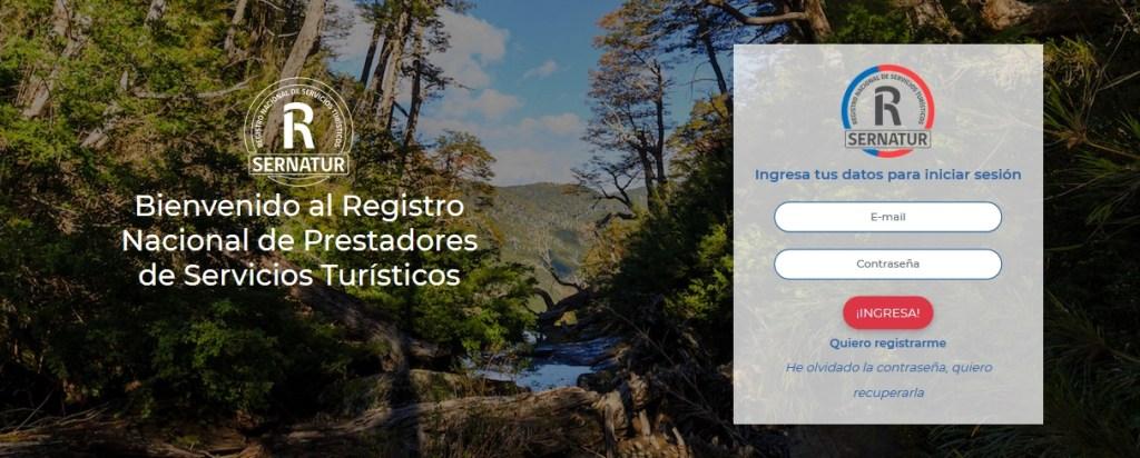 Portal de ingreso al Registro Nacional de Prestadores Turísticos