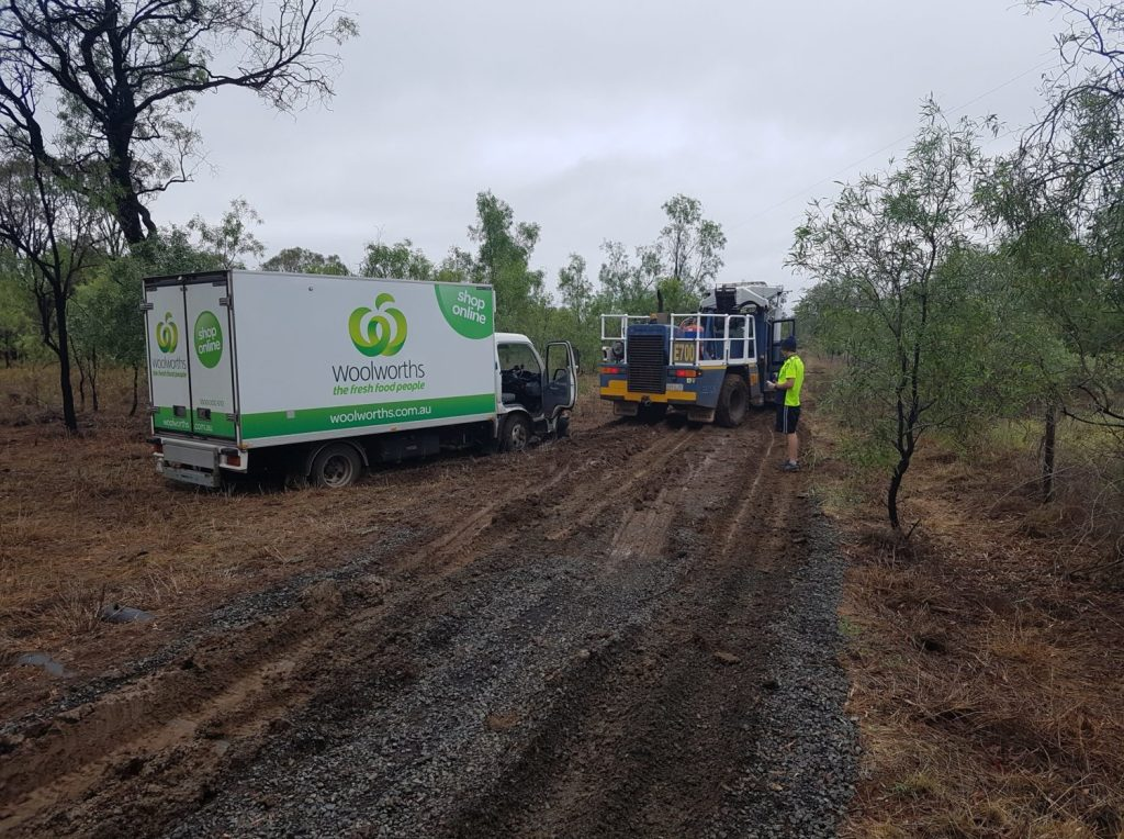 Bogged Delivery Truck Rescue in Emerald, Queensland