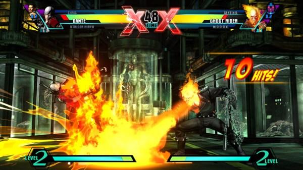 Marvel vs Capcom 3 Ghost Rider against Dante