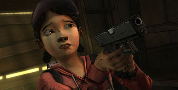The Walking Dead Clementine with a gun