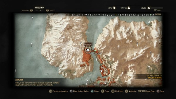 Kaer Trolde armorer map location The Witcher 3 Wild Hunt