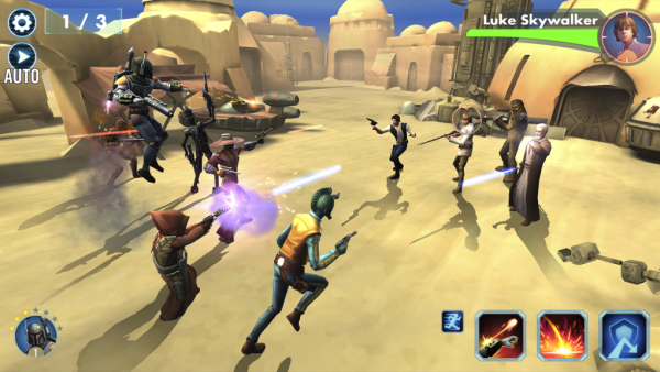 Star Wars Galaxy of Heroes free to play android game in action
