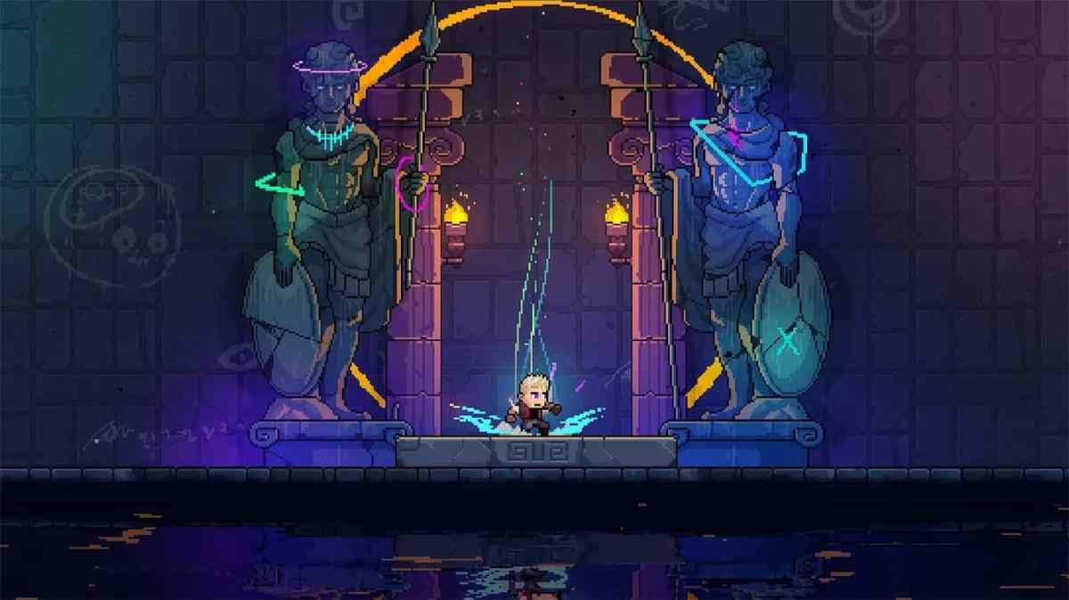Review Neon Abyss-a blockbuster retro game combines Contra with Castlevania