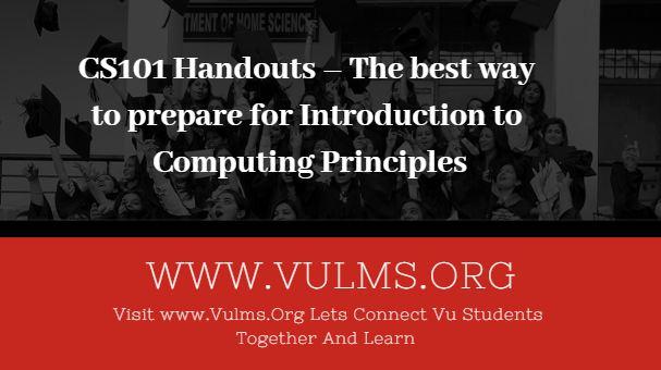 cs101 handouts