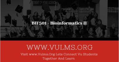 BIF501 - Bioinformatics II