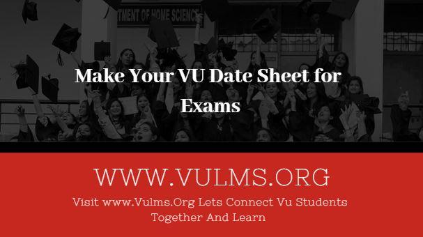VU date sheet