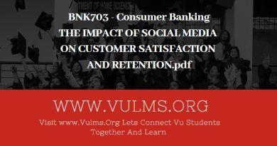 BNK703 - Consumer Banking