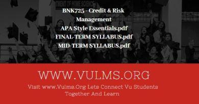 BNK725 - Credit & Risk Management
