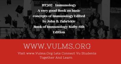 BT302 - Immunology