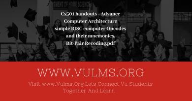 Cs501 handouts