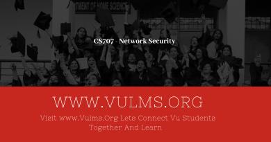 CS707 - Network Security