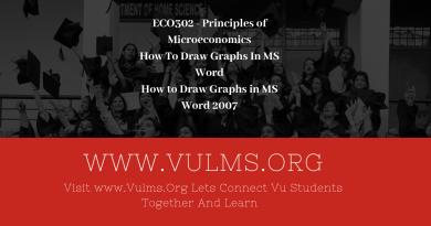 ECO302 - Principles of Microeconomics