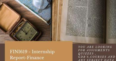 FINI619 - Internship Report-Finance