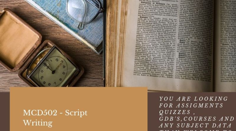 MCD502 - Script Writing
