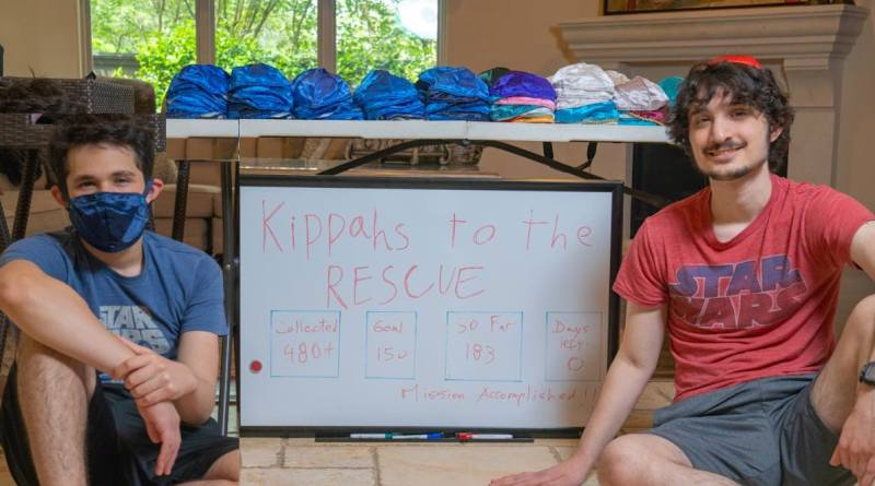 Jewish Brothers Collect Yarmulkes to Make Face Masks For Houston's Homeless