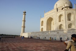 Side view Taj Mahal
