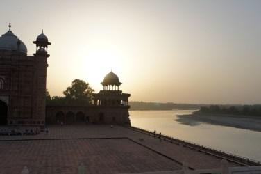 View fro mthe Taj down the river