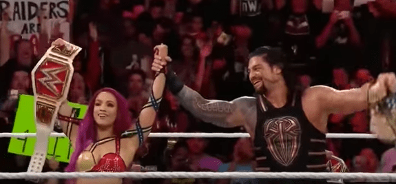 The first time Reigns has been cheered since Bray Wyatt put him through a table