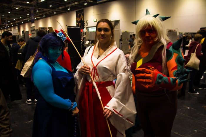 Cosplayers in Comic con.