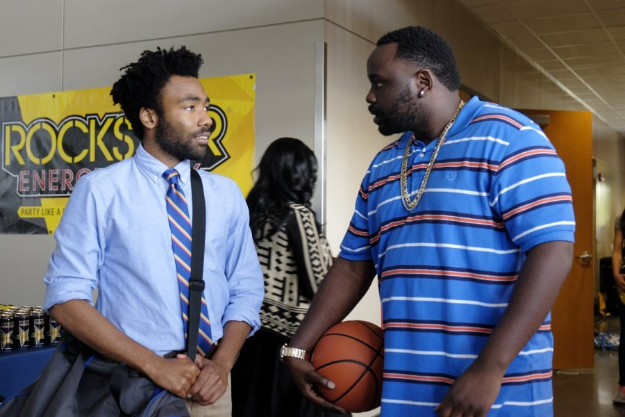 "Earn (Glover) and Alfred (Tyree Henry) in the episode ""Nobody Beats the Biebs"". Courtesy of FOX."