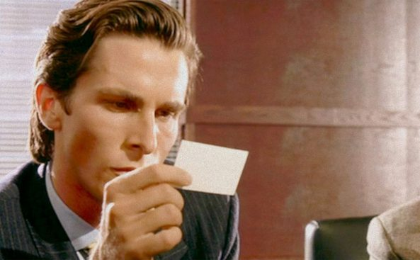 The vh 12 films of christmas number 9 american psycho american psycho business card reheart Gallery