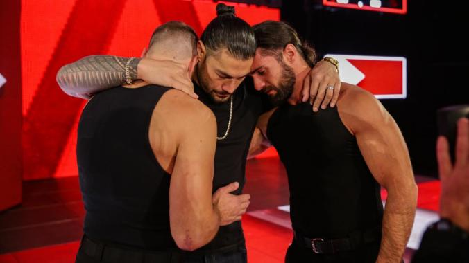 Roman Reigns, Dean Ambrose, and Seth Rollins