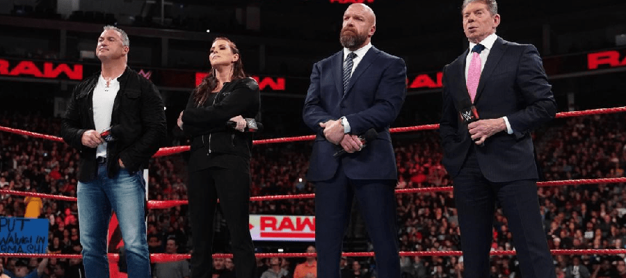 Shane McMahon, Stephanie McMahon, Triple H, and Vince McMahon