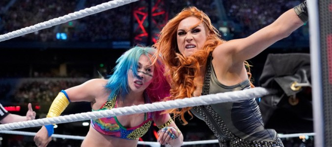 Royal Rumble 2019 Asuka Becky Lynch