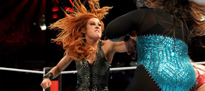 Royal Rumble 2019 Becky Lynch Nia Jax