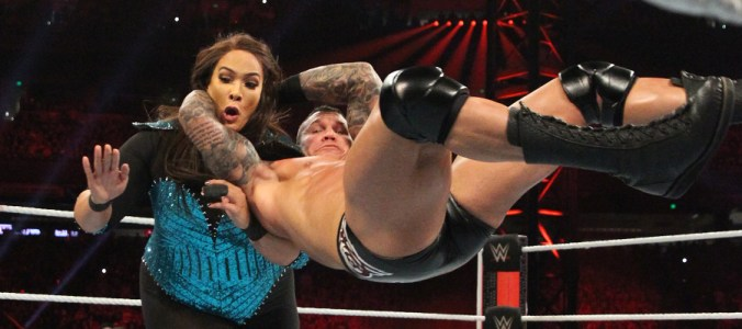 Royal Rumble 2019 Nia Jax Randy Orton RKO