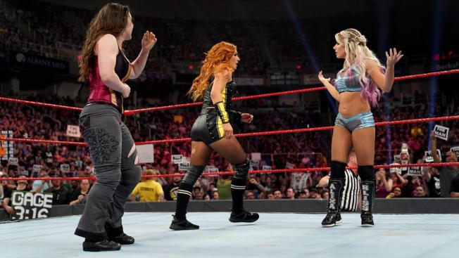 Becky Lynch snubs Alexa Bliss post-match
