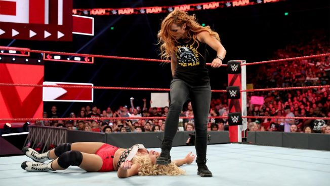 Becky Lynch stood on Lacey Evans' hair